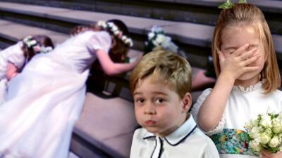 Tropiezan, se cansan, no cooperan: los niños hacen de las suyas en las bodas de la realeza británica