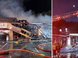 Incendio destruye completamente una taquería y otros dos locales comerciales en Gwinnett
