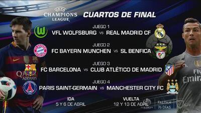 Análisis del cruce de cuartos de final en la Champions League