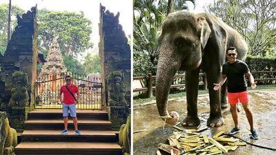 Las fotos de las vacaciones de Raúl Brindis en Bali, Indonesia