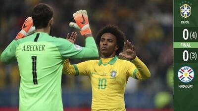 Brasil ataja fantasmas paraguayos de los penales y avanza a Semifinales de Copa América