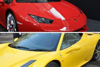 Lamborghini vs. Ferrari pieza por pieza