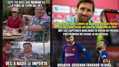 Memelogía: las burlas a Lionel Messi, la Final de la Copa del Rey y el mercado de pases