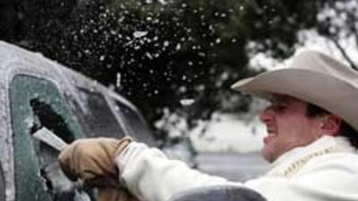 SA bajo lluvia, hielo y nieve