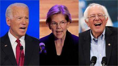 Biden, Warren y Sanders sobrepasan a Trump en cuanto a intención de voto, según reciente encuesta