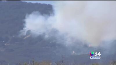 Incendio forestal fuera de control en el norte de Santa Bárbara