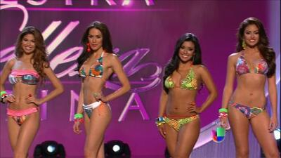 Pasarela en bikini de las 10 finalistas de Nuestra Belleza Latina 2013