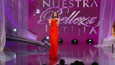 Marina Ruiz actuó junto a Salvador Zerboni en la final de Nuestra Belleza Latina 2013