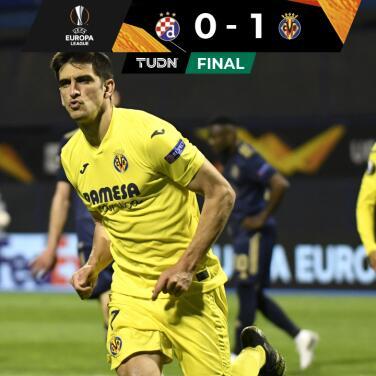 Villarreal ganó con solvencia en Zagreb y se enfila a Semis