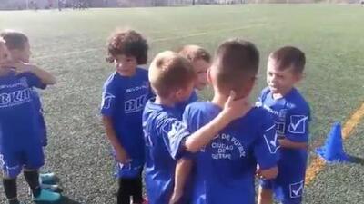 Líder desde pequeño: la arenga de un pequeñín de la escuela del Getafe