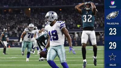 Dallas sufrió demás pero venció a Philadelphia en tiempo extra con juegazo de Amari Cooper