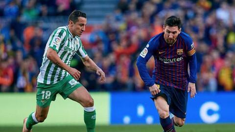 """Messi come aparte"": Andrés Guardado previo al Betis-Barça"