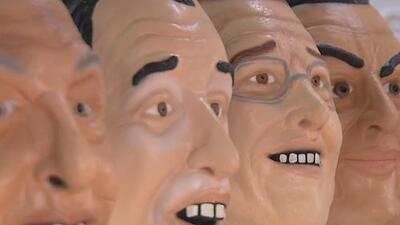 Máscaras y piñatas de los candidatos a la presidencia de México inundan las calles previo a las elecciones