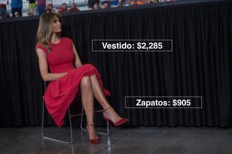 Esto cuestan los looks llevados por Melania Trump como primera dama