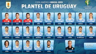 Suárez, Cavani y 'Cabecita' Rodríguez de Cruz Azul van con Uruguay a Copa América