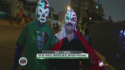 Así se vivió el Perú vs. México