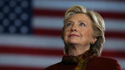 Hillary Clinton espera en el Centro Javits de Nueva York los resultados electorales