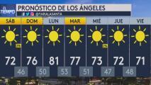 Condiciones secas y cielo despejado, el pronóstico del tiempo para este sábado en Los Ángeles