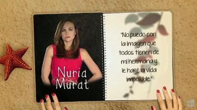 """Laura Carmine es """"Nuria Murat"""" y le hará la vida imposible a su hermana en """"A Que No Me Dejas"""""""