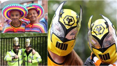 México vive en el Molineux: los fanáticos de los Wolves montaron una previa muy colorida