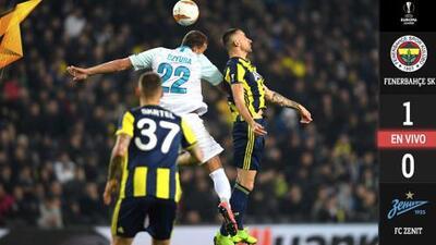 Con mucha suerte, Fenerbahçe tomó ventaja ante Zenit
