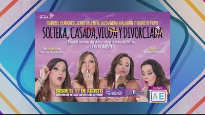 """""""Soltera, casada, viuda y divorciada"""" en los escenarios de Puerto Rico"""