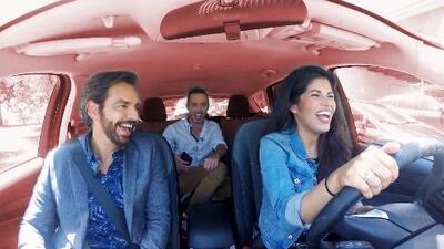 Eugenio Derbez se pasea por Chicago por primera vez con los presentadores de A Bordo Chicago