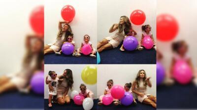 Lola Ponce se divierte a lo grande con sus hijas