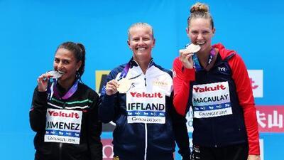 Adriana Jiménez gana medalla de plata en el Mundial de Natación