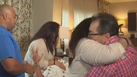 En video: El emotivo encuentro de una pareja y los receptores de los órganos de su hijo asesinado