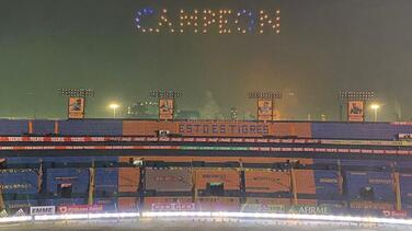 Con drones y luces en el Volcán, Tigres festejó campeonato en Concacaf