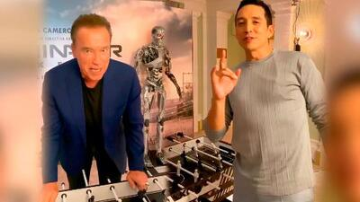 Schwarzenegger derrota con un 'hasta la vista, baby' a Gabriel Luna en un partido de futbolito