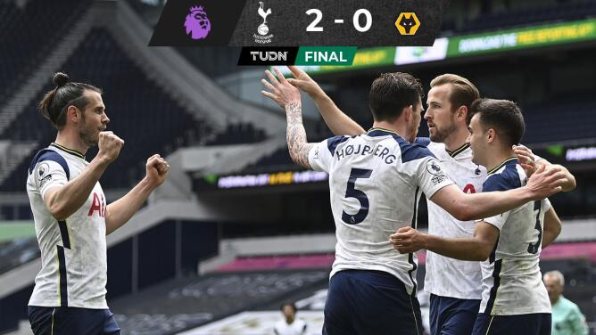Tottenham vence al Wolverhampton y afianza Europa League