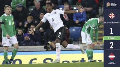 Irlanda del Norte 1 – 2 Austria – Goles y Resumen – Liga B - Grupo 3 – UEFA Nations League
