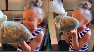 (Video) El rapero YG puso a su hija de 3 años a oler una bolsa de marihuana y le llueven las críticas