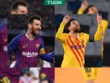 ¡Obras de arte! Los casi idénticos goles de Messi al Liverpool y PSG