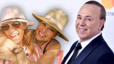 Thalía y Lili Estefan se fueron a comer en Miami (y Tommy Mottola no las dejó solas)