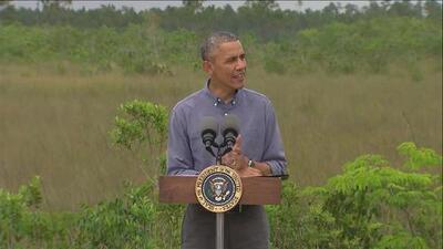 """Obama: """"El cambio climático es real y toca hacer lo correcto"""""""