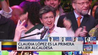 Primera mujer elegida como alcaldesa de Bogotá