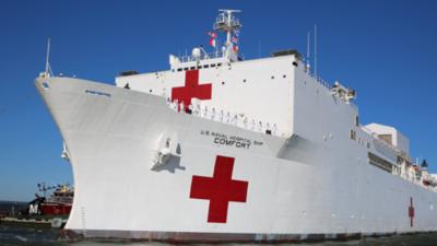 Buque hospital de la Marina de Estados Unidos sale a Latinoamérica para asistencia médica debido a la crisis venezolana