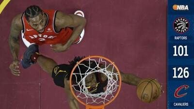 Sorpresa, paliza y pelea: los Cavaliers derrotan a los Raptors con golpes de Ibaka a Chriss