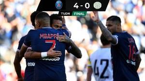 El PSG, con goles de Neymar y Mbappé, goleó al Celtic