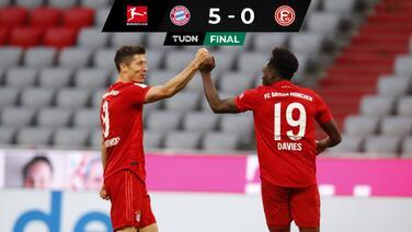 Bayern Munich le propina la 'manita' a Fortuna Düsseldorf