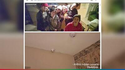 Descubren cámara oculta en alarma para incendios de un Airbnb