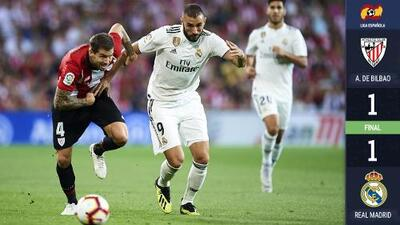 El Real Madrid empata en San Mamés en un frenético partido con cierta nostalgia por CR7