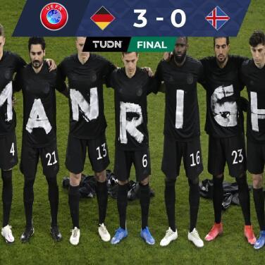 Alemania venció sin contratiempos y con protesta a Islandia