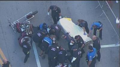 Oficial de Miami Beach es impactado por una motocicleta, en medio de las duras medidas de seguridad por 'Spring Break'