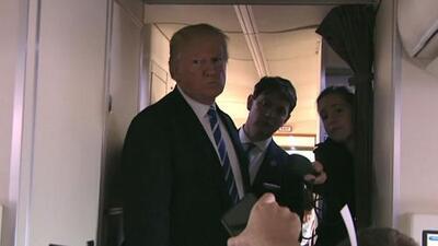 El video en el que Trump niega saber algo sobre el pago a la actriz porno Stormy Daniels