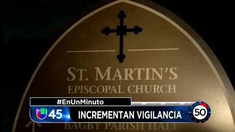 En Un Minuto Houston: Aumentan seguridad en el área de la funeraria y la iglesia donde será velada Barbara Bush