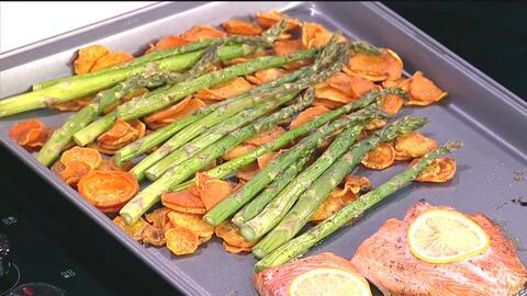 Pocos ingredientes mucho sabor: receta de 'Salmón con maple y espárragos'